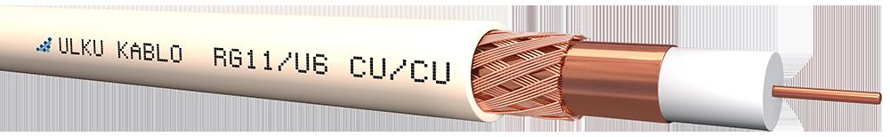 Ülkü Kablo RG 11/U-6 (CU/CU)  P.E.