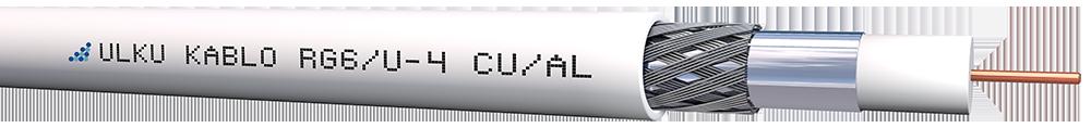 Ülkü Kablo RG 6/U-4 (CU/AL)  P.E.