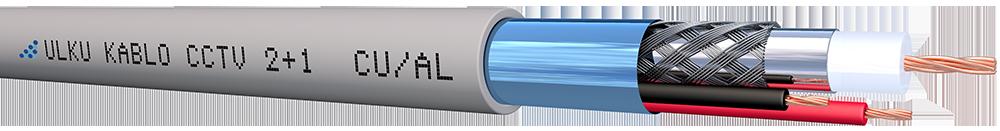 Ülkü Kablo 2+1  PE (1 Coax+2x0,50 mm²) CU/AL