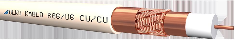 Ülkü Kablo RG 6/U-6 (CU/CU) TRISHIELD  P.E.