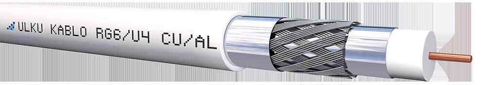 Ülkü Kablo RG 6/U-4 (CU/AL) TRISHIELD