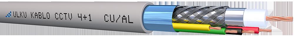 Ülkü Kablo 4+1 PE ( 1Coax + 2x0.50 mm²+ 2x0.22 mm²) CU/AL