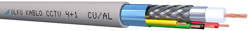 Ülkü Kablo 4+1 ( 1Coax + 4 x0.22 mm²) CU/AL