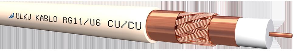 Ülkü Kablo RG 11/U-6 (CU/CU) TRISHIELD