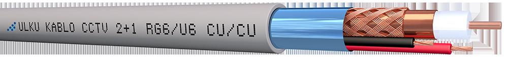 Ülkü Kablo 2+1 HF (RG6/U6) + (2x1,50mm²) CU/CU