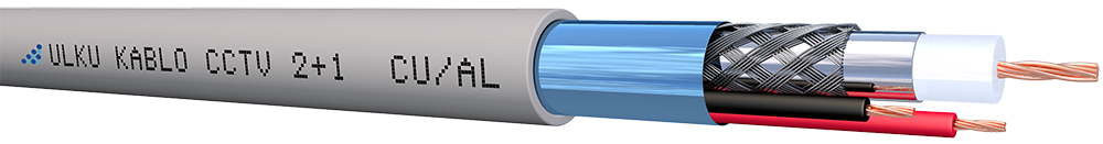 Ülkü Kablo 2+1 (1 Coax+2x0,14 mm²) CU/AL