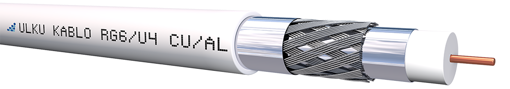 Ülkü Kablo RG 6/U-4 (CU/AL) TRISHIELD  P.E.
