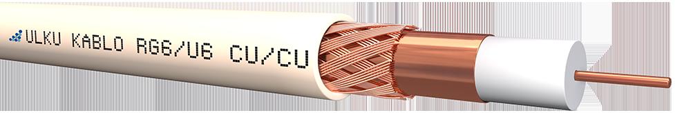 Ülkü Kablo RG 6/U-6 (CU/CU)  P.E.