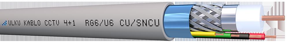 Ülkü Kablo 4+1 PE (RG 6/U6) + (2x0,75+2x0,50) CU/SNCU