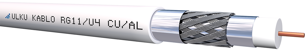 Ülkü Kablo RG 11/U-4 (CU/AL) TRISHIELD